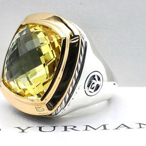 David Yurman 18mmAlbion Citrine &18K gold ring zs7